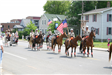 Sheriffs posse in a parade on road