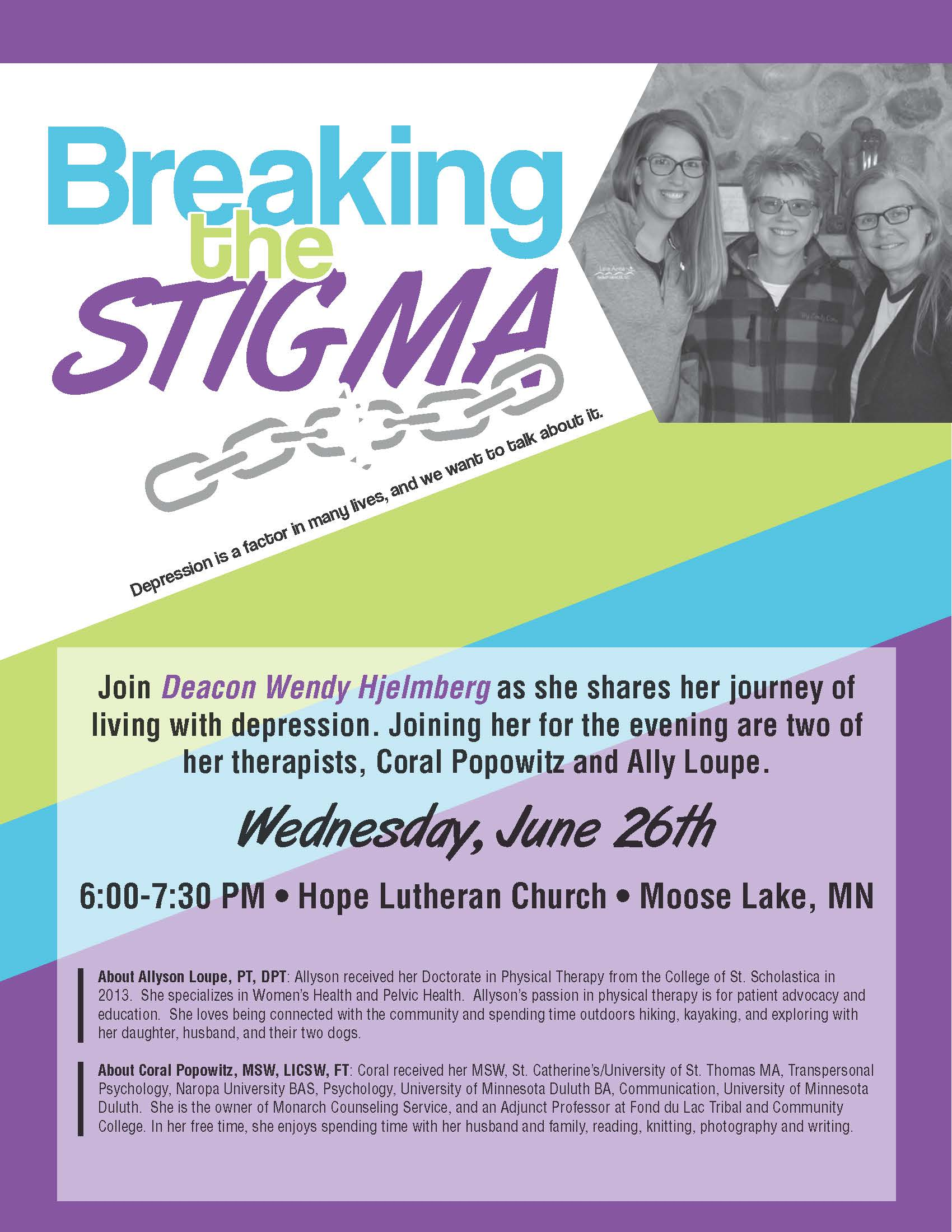 Breaking the Stigma Poster - Journey of Depression